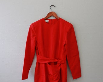 Vintage 80s Red Dress by Nipon Boutique