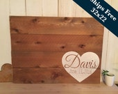 Rustic Wedding Sign - Guest Book Alternative - Wedding Guestbook -Wedding Signage, Personalized Wedding Sign - Wood Pallet Art - Bridal Gift