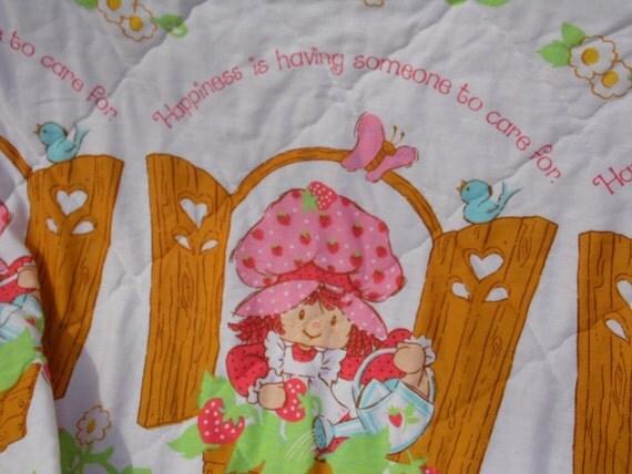 Strawberry Shortcake Vintage 1980 Twin Bedspread/comforter