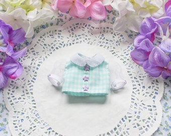 Mint Green crop top blouse  - [ Unoa / Minifee / Slim MSD ]