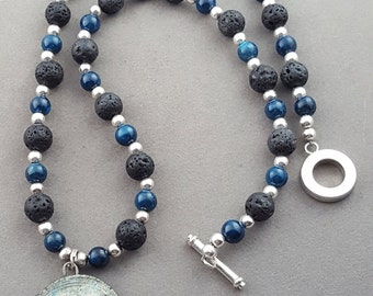CIJ Blue Dragonfly Necklace