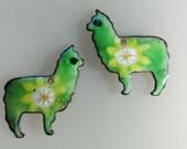 Llama, llama, Who's your Mama?  Enamel Earring Findings 2016 F-1021