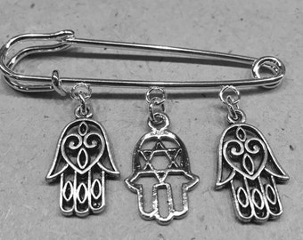 Chamsa hand of God Protection Symbol baby crib or stroller adornment accessory new mom newborn