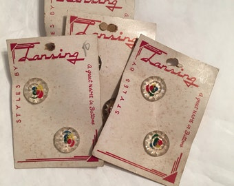 Vintage Buttons by Lansing, Set of 8