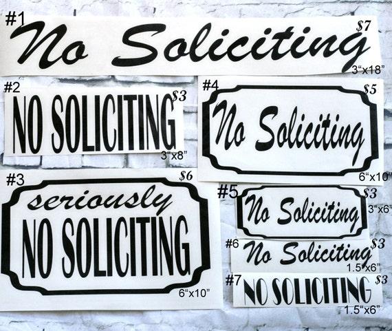 No Soliciting Sign, No Soliciting Sticker, No Solicitng Decal, No Soliciting, Front Porch Decor, Front Porch, No Solicitors