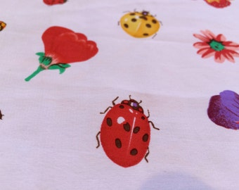 Moda Italiana Whimsical Bugs Butterfly Flowers Garden Scarf Water Repellent Red
