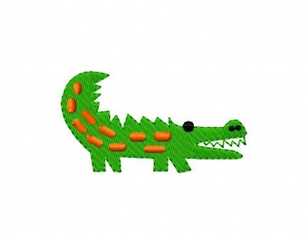 Alligator, Gator, Machine Embroidery Design // Joyful Stitches