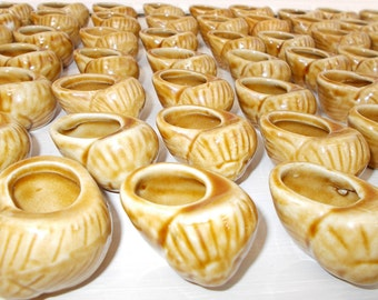 REDUCED**     Set of 6 Ceramic Escargot Shells, Snail Serving Shells.