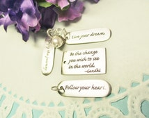 Graduation Gift, Quote Jewelry, Inspirational Jewelry, Enjoy the Journey, Gift for Daughter, Gift for Niece, Graduation Gift