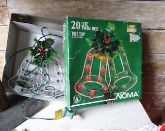 Vintage Christmas Tree Topper Bells