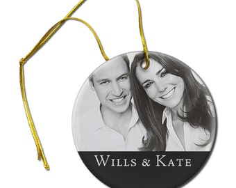 Wills and Kate Royal Wedding Photo on a Hanging Ceramic Ornament