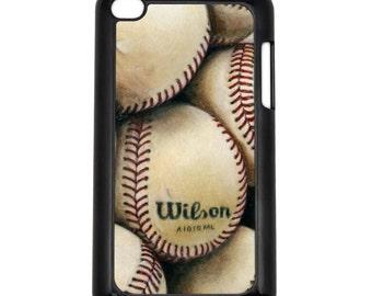 Baseballs Apple iPod Touch 4g Hard Case Original Sports Art Choose Case Color