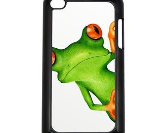 Stare at the Frog Apple iPod Touch 4g Hard Case Original Animal Art Choose Case Color