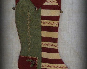 Fireside Glow Stocking - Christmas Past Stocking Collection E-PATTERN by cheswickcompany