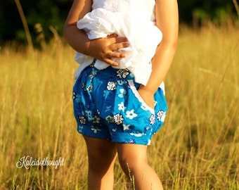 Rose Bubble Shorts, PDF Sewing Pattern, bubble shorts, baby shorts pattern, shorts girl toddler, sewing pattern pdf, sewing patterns, shorts