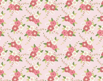 Floral in pink from the Wonderland collection by Melissa Mortenson for Riley Blake