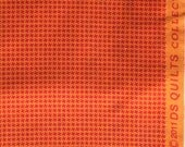 Aunt Edna tiny houndstooth orange DS Quilts Denyse Schmidt fabric FQ or more