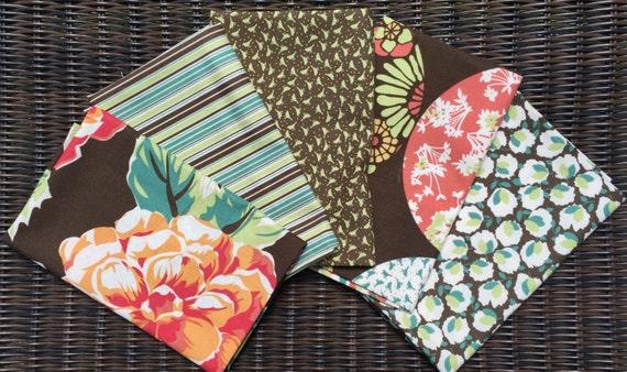 Blossom Urban Chiks bark brown moda fabrics 5 FQ set #2