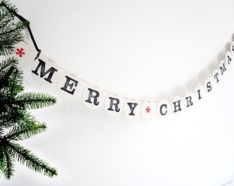 MERRY CHRISTMAS banner // Merry Christmas garland decoration by renna deluxe