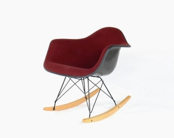 Eames for Herman Miller Upholstered Rocking Chair-RAR