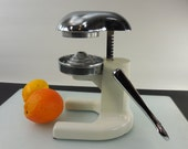 Ramcon Orange Citrus Juicer - Manual Hand Lever Action - White Chrome Metal
