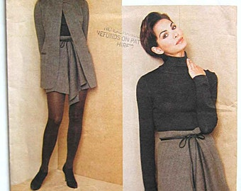 DKNY Misses' Jacket and Wrap Skirt Vogue 1673 Sewing Pattern UNCUT Sizes 8-10-12 Donna Karan