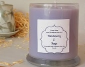 Blackberry & Sage Scented Vegan  Soy Wax Candle in 12 oz Status Jar