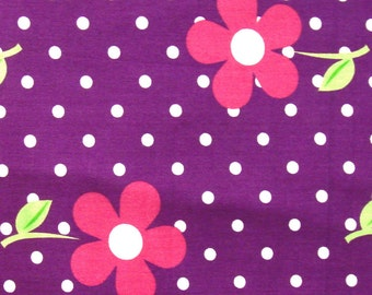 floral print for kids - cotton fabric - 1 yard - ctnp325