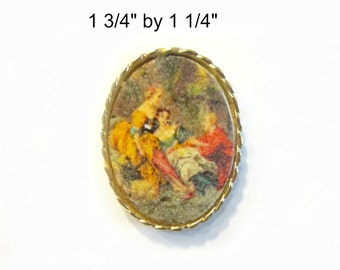 Frosted Cameo Brooch Magnet Super Strong Upcycled Vintage Jewelry Hostess Gift Under 5