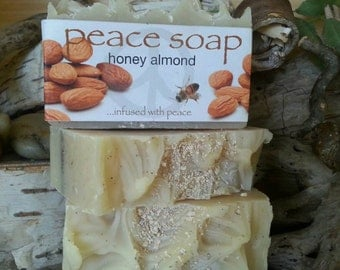 honey almond peace soap