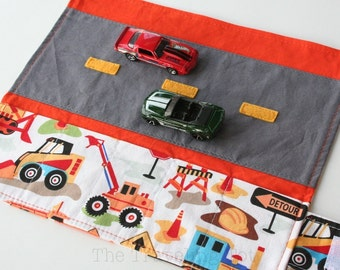 Car Caddy w/ Road Play Mat - Dig It - (Holds 5 Toy Cars)