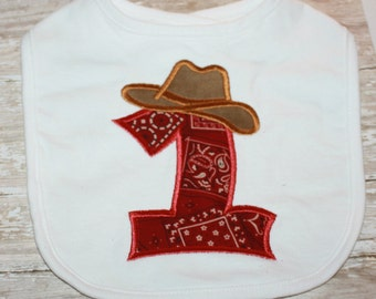 First Birthday Bib-Cowboy First Birthday Bib-Personalized First Birthday Bib-Western Birthday Bib-Cowboy Baby Bib-Baby Bib-Bibs