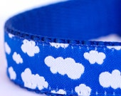 Fluffy Clouds Dog Collar, Adjustable Dog Collar, European Ribbon Collar, Sky Pet Collar