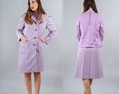40% OFF SALE Vintage Lavender 3 Piece Mod Set // Coat Skirt Blouse