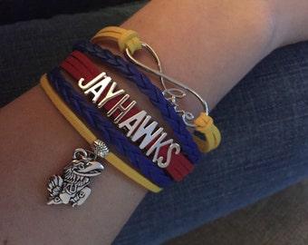 Kansas Jayhawks Inifinity Bracelet