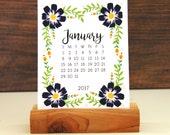 2017 Desk Calendar -  Floral