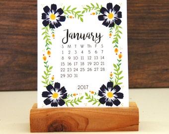 2017-18 Desk Calendar -  Floral