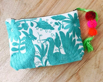 Mexico Embroidered Clutch Oversized Michelle Otomi by Erica Maree FREE SHIPPING
