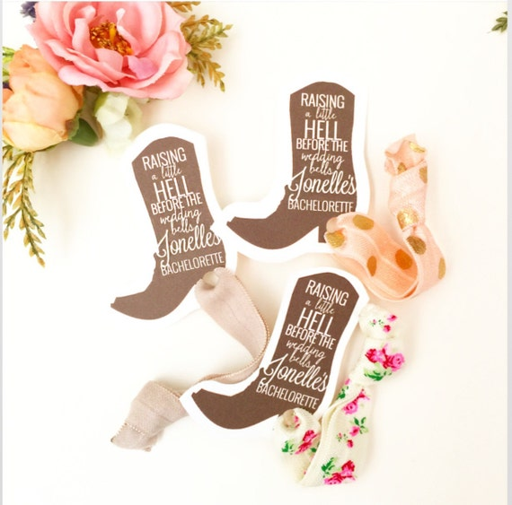 Cowgirl Boot Party Favor Hair Ties