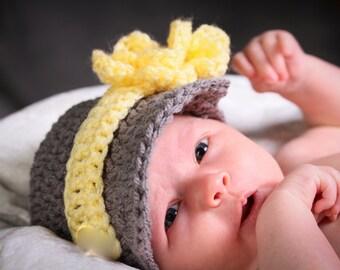 Baby Girl Hats, Baby Hat, Crochet Newborn Hat, Newsboy Baby Girl Hat, Newborn Girl, Infant Girl, Photo Prop, Hospital Hat, Baby Shower Gift