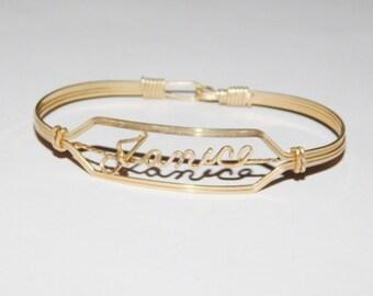 Vintage Janice Name Gold Filled Bracelet