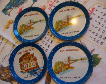 san francisco landmark tin coasters