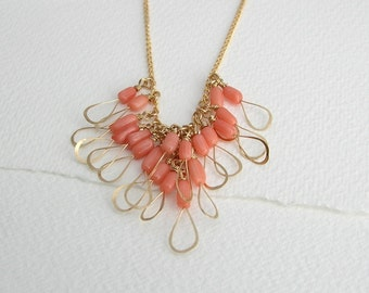 Pink Coral Little Wing Necklace