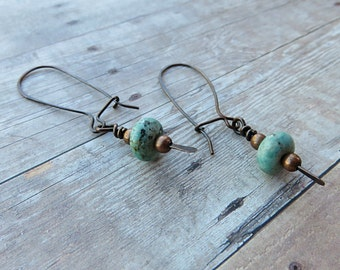 Turquoise Dangle Earrings - Long Turquoise Earrings - Drop Earring Dangle - Long Dangle Earrings - Mother's Day Gift Idea