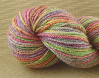 Hand Dyed Yarn - Multicolor Madness - Worsted Weight Yarn - 100% Non-Superwash Merino Wool Yarn