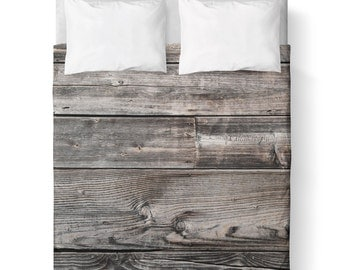 Duvet Cover/ Barn Wood /Nature / Bedding/ Comforter Cover/ Twin, Queen, King/