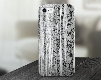 Birch Trees Nature Cell Phone Case -  IPHONE 6, 6S, 6 Plus, 6S Plus / Samsung Galaxy S6 Edge, S6, S7 -made to order