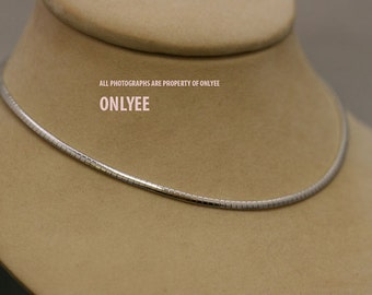 10PCS-3.3mmBright Rhodium Plated Brass Snake Chain Collar choker Necklaces(E2904S)