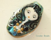 Handmade Lampwork Focal Bead - 'Girl' - Creeky Beads