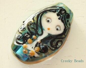 Handmade Lampwork Focal Bead - 'Girl' - Creeky Beads